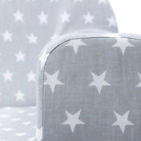 Lulando: Fotelik classic gwiazdki białe na szarym tle