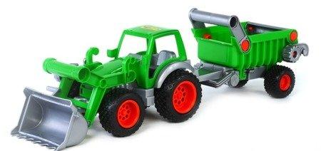 """Polesie Wader (8718): Traktor, ładowarka z naczepą """"Farmer Technik"""""""