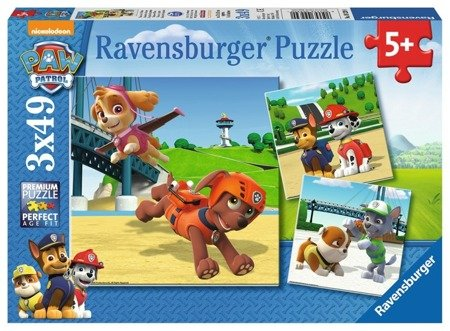 Ravensburger Puzzle Psi patrol Zespół na 4 łapach