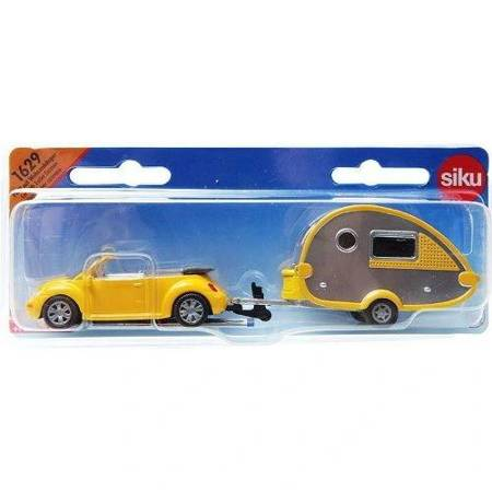 Siku (1629): Samochód z przyczepą campingową