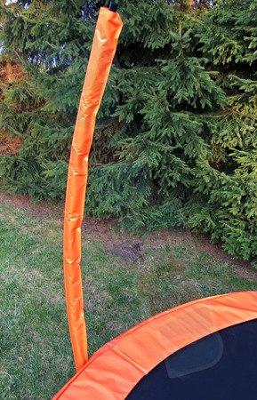 Trampolina 244cm 8FT ring, drabinka, pokrowiec, pomarańczowa TIMA SPORT