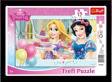 Trefl (31210): Puzzle ramkowe 15 el. Księżniczki Przyjęcie