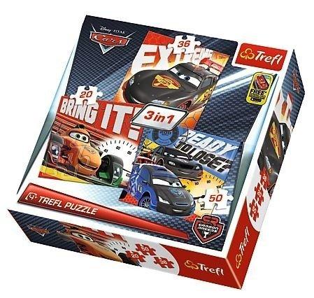Trefl (34819): Puzzle 3w1 Po wyścigu, Cars 2