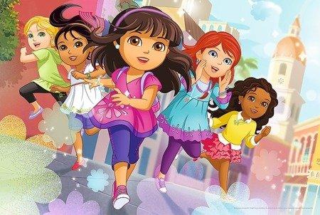 Trefl Puzzle 24 Maxi Gotowe, do startu, start!, Dora i przyjaciele