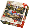 Trefl 34249: Puzzle 4w1 - Dinozaury